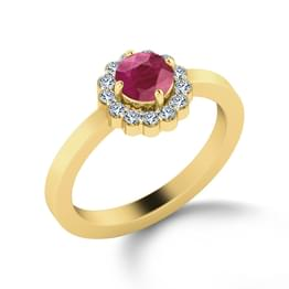 Forever Floral Diamond & Ruby Ring