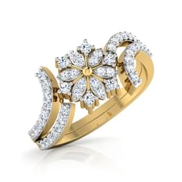 Chrysan Diamond Ring