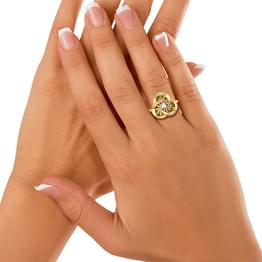 Wheeling Diamond Ring