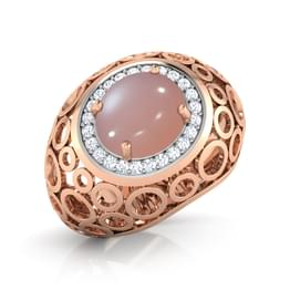 Pink Chalcedony Bubble Ring