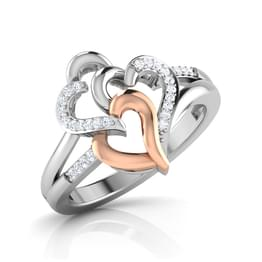 Trio of Hearts Ring