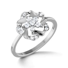 Geranium Platinum Ring