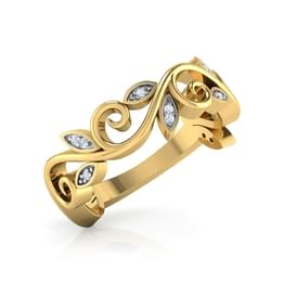 Swirl Diamond Band