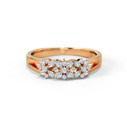 Ines Trio Floral Diamond Band