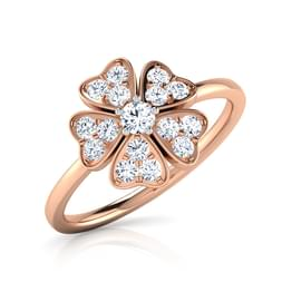 Clover Heart Flora Ring