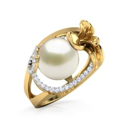 Bloom and Pearl Ring