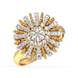 Diamond Burst Cocktail Ring