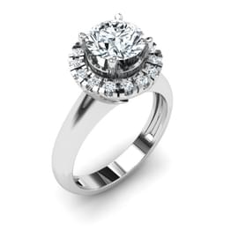 Floral Solitaire Ring Mount
