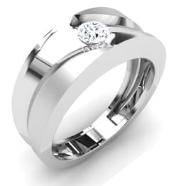 Adam Solitaire Ring Mount for Him