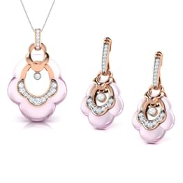 Ilse  Rose Quartz Matching Set