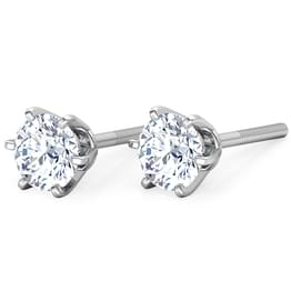 Six-Prong Stud Earrings