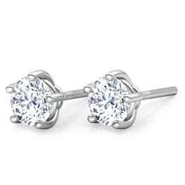 5 Prong Stud Earrings