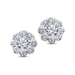 Classic Nine-Stone Diamond Studs