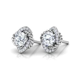 Anora Solitaire Stud Earrings