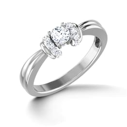 Glitter Two Tone solitaire Ring