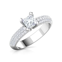 Charm Princess Solitaire Ring