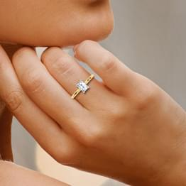 Charm Radiant Solitaire Ring