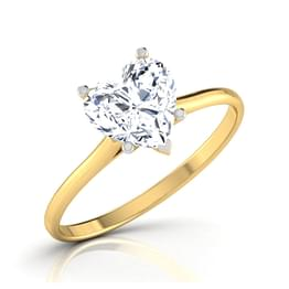 Zeal Heart Solitaire ring