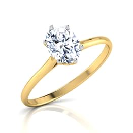Zeal Oval Solitaire Ring