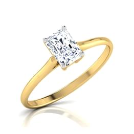 Sparkle Baguette solitaire Ring