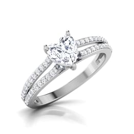 Davia Heart Solitaire Ring