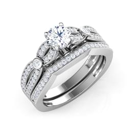 Aura Bridal Ring Set