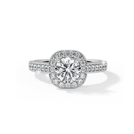 Iona Halo Solitaire Ring