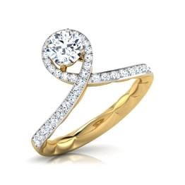 Droplet Solitaire Ring