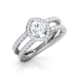Two Row Solitaire Ring