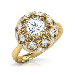 The Taj Aura Solitaire Ring