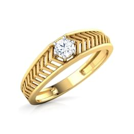 Ted Solitaire Ring for Him