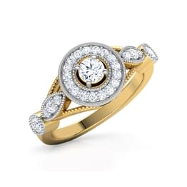 Candice Petals Solitaire Ring