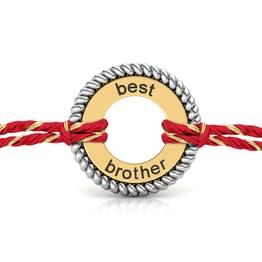 Best Brother Silver Rakhi