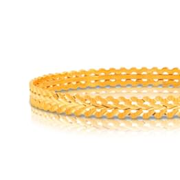 Asya Wave Gold Bangle