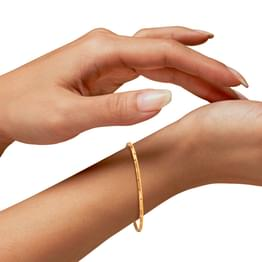 Jun Leaf Gold Bangle
