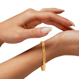 Ilfa Textured Gold Bangle