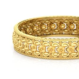 Bloom Floral Gold Bangle