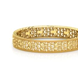 Bead Patterned Gold Bangle