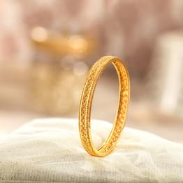 Flex Braid Gold Bangle