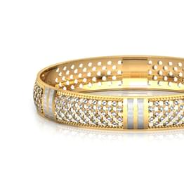 Sequence Gold Bangle