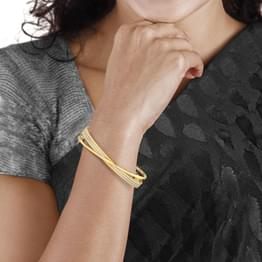 Crossover Gold Bangle