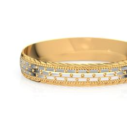 Zuri Textured Gold Bangle