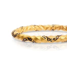 Curvy Scroll Gold Bangle