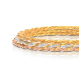 Spiral Twist Gold Bangle Set of 4