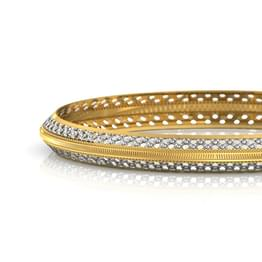 Grainy Texture Gold Bangle