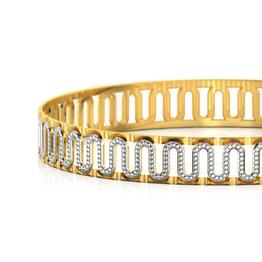 Swish Gold Bangle