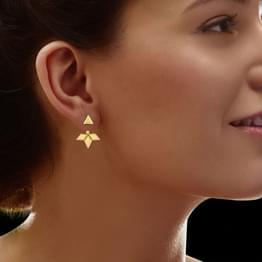Melba Geometric Ear Jacket Earrings