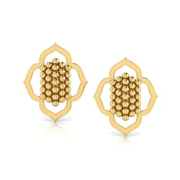 Floral Jharokha Stud Earrings
