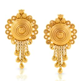 Jessi Granulated Gold Drop Earrings