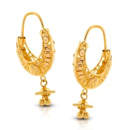 Ahana Beaded Gold Drop Earrings